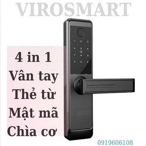 Khóa Cửa Vân Tay Viro Smart Lock 4in1 VR-TW918/88