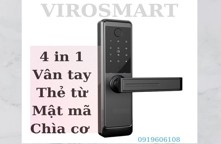 Khóa Cửa Vân Tay Viro Smart Lock 4in1 VR-TW918/88 Giá Rẻ
