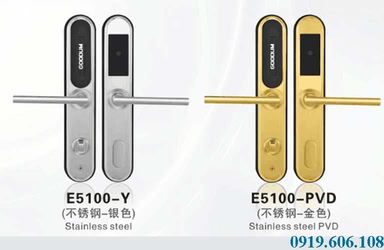 Khóa cửa thẻ từ Goodum E5100 chính hãng đạt chuẩn Hoa Kỳ