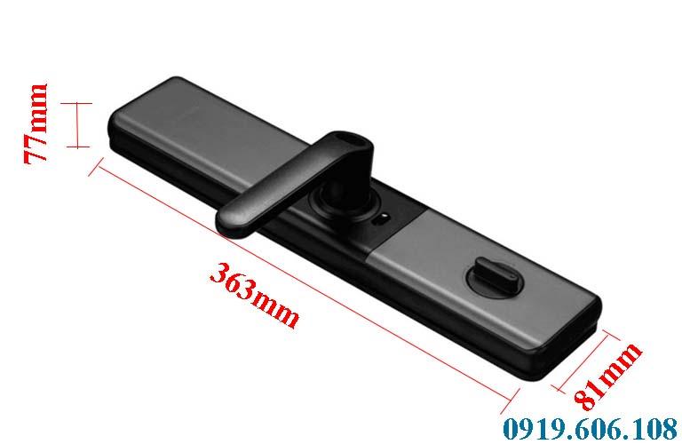 Kích thước của khóa cửa thông minh Kaadas L7