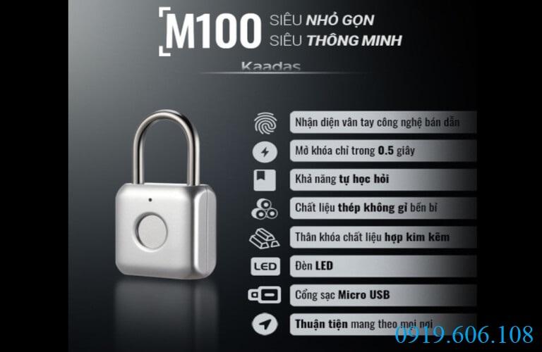 Khóa cửa vân tay Kaadas M100 được sản xuất bởi công nghệ hiện đại với nhiều ưu điểm tuyệt vời