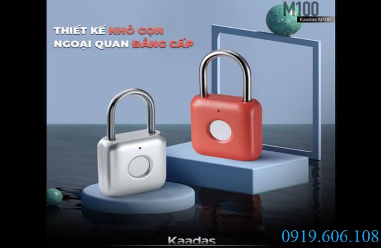 Khóa vân tay Kaadas M100 với thiết kế như một khóa móc cửa thông thường nhưng lại chắc chắn, bảo an tốt và tiện lợi hơn gấp nhiều lần