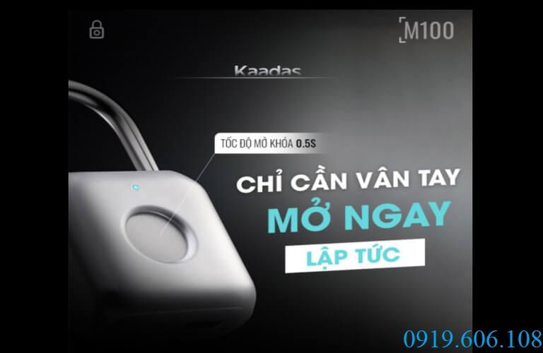Chỉ cần vân tay bạn đã có thể mở khóa Kaadas M100 ngay lập tức, nhanh chóng, chính xác