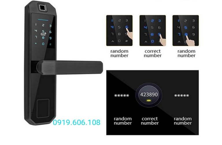 Khóa Cửa Thông Minh OneLock WS001 trang bị công nghệ mà số ảo, chống đánh cắp mật khẩu