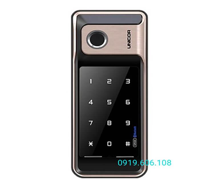 Khóa cửa vân tay Unicor GR500-BW-GLC hiện đại