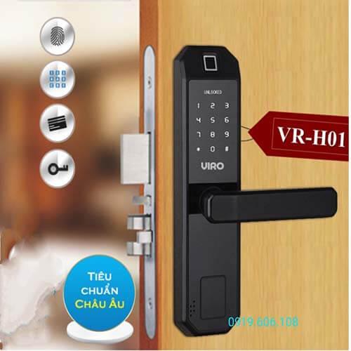 Khóa Vân Tay Cửa Gỗ Viro 4in1 VR-H01