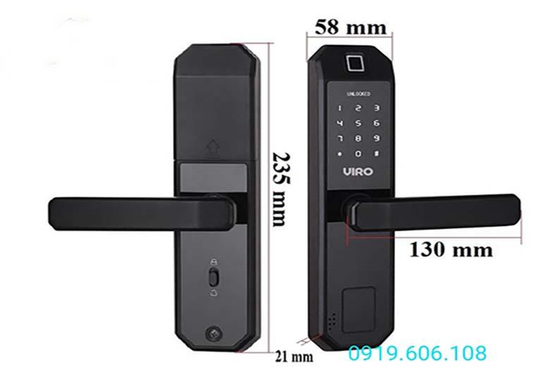 Khóa vân tay cửa gỗ Viro Smart Lock 4in1 VR-H01 là dòng khóa chất lượng tốt, đọ an toàn cao, sử dụng mang lại nhiều tiện ích lớn