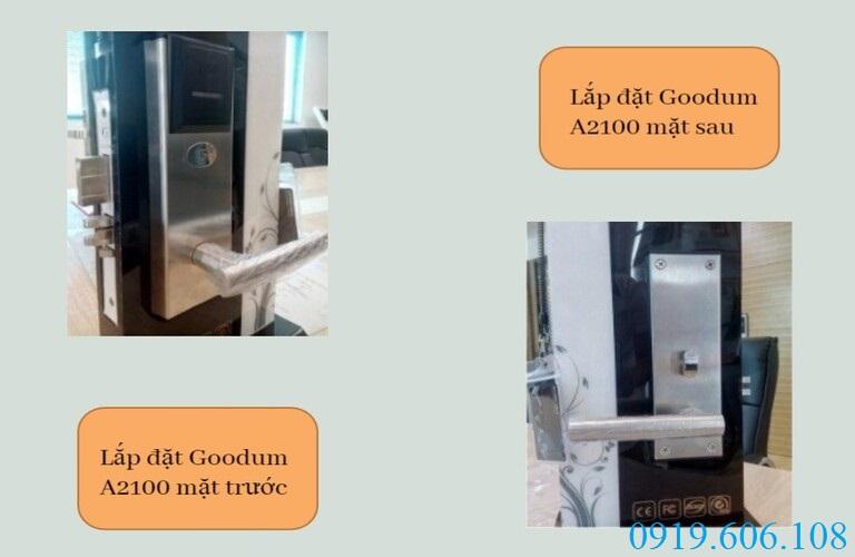 Lắp đặt khóa cửa thẻ từ Goodum A2100 nhanh chóng, dễ dàng