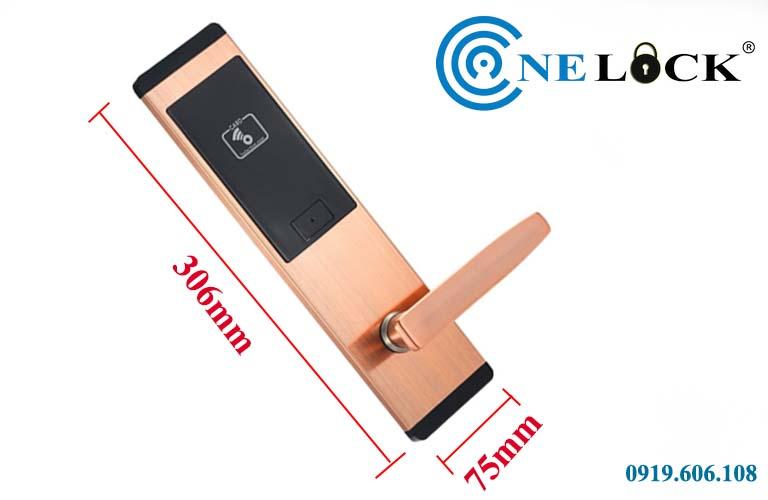 Kích thước của khóa cửa thẻ từ khách sạn OneLock HL005
