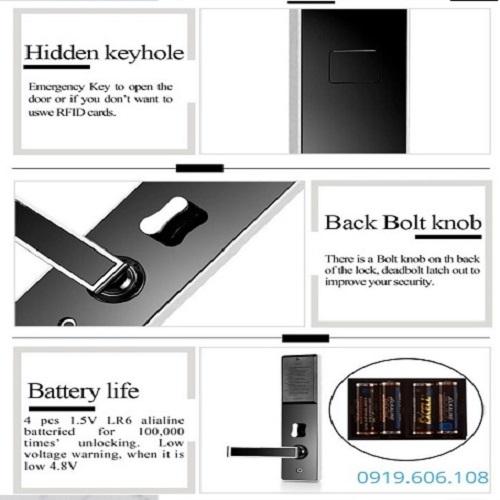 Khóa Cửa Thẻ Từ Khách Sạn OneLock HL007
