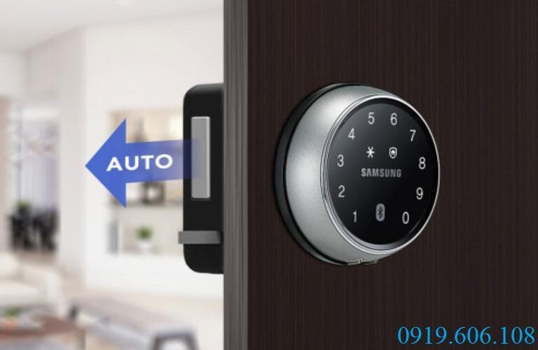 Khóa điện tử cho cửa gỗ Samsung DS705MK/EN