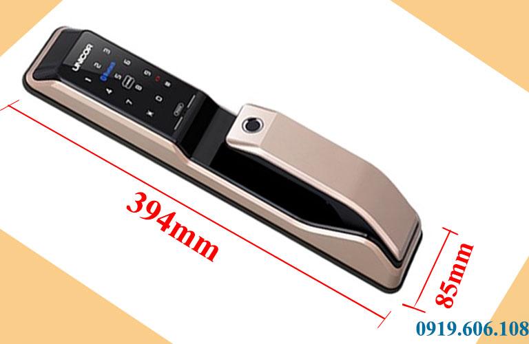 Kích thước của khóa cửa thông minh Unicor PM8000BWSK