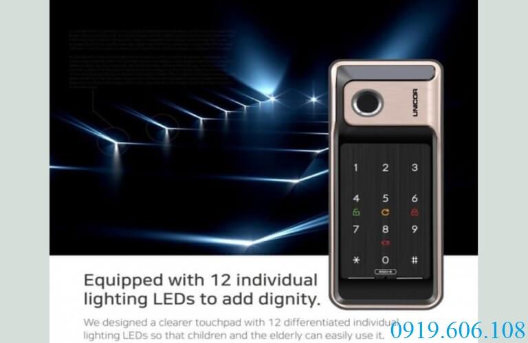 Mia Lock Việt Nam bảo hành khóa vân tay Unicor R500-B chính hãng 12 tháng cho khách