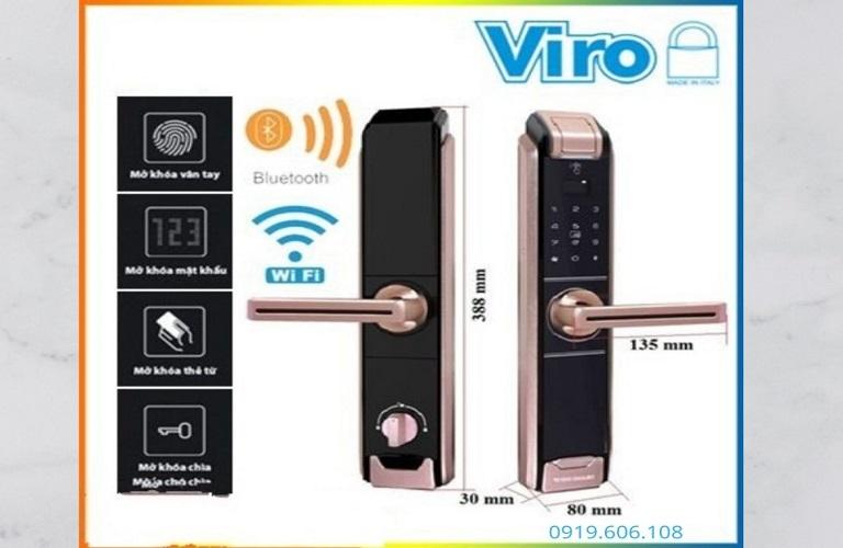 Khóa Cửa Thông Minh Viro Smart VR-TMB918/82 Hàng Cao Cấp