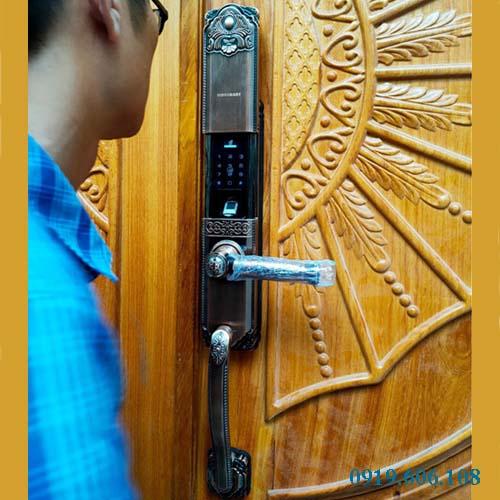 Khóa Cửa Vân Tay Viro Smart Lock 4in1 VR-HB90031