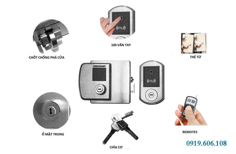 Các chức năng của khóa cửa vân tay Viro Smart Lock VR 1300