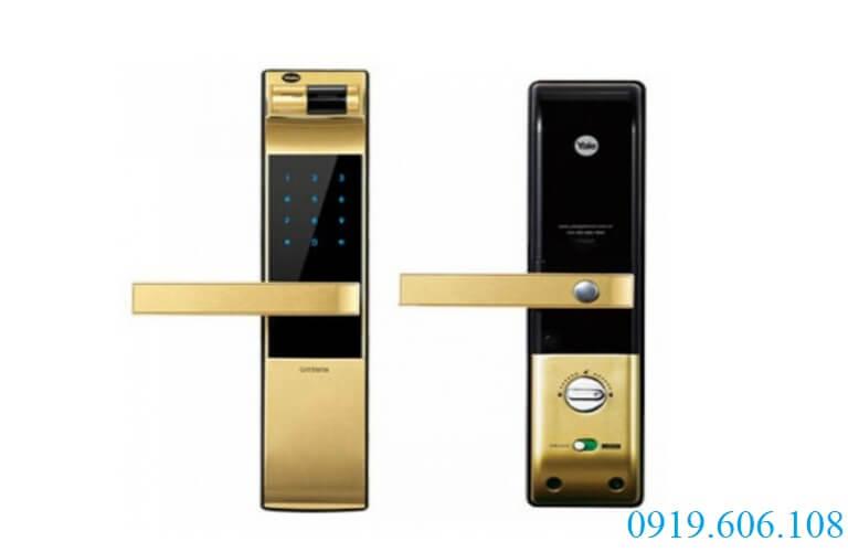 khóa cửa vân tay Yale YDM 4109A Gold
