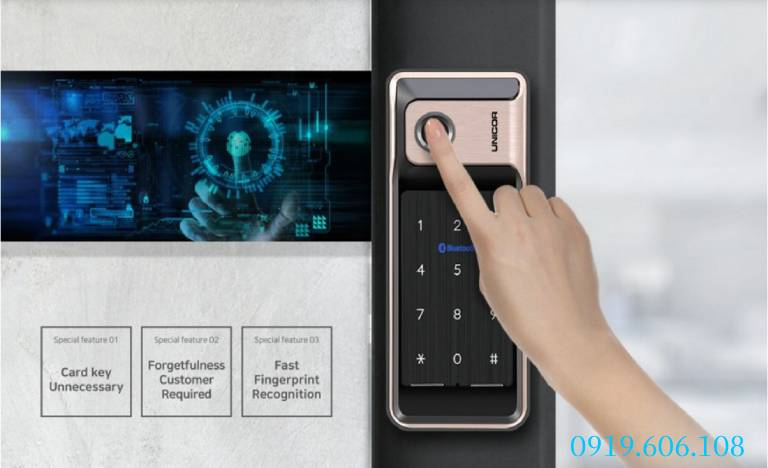 Công nghệ vân tay của khóa thông minh Unicor WR500-BW-SA