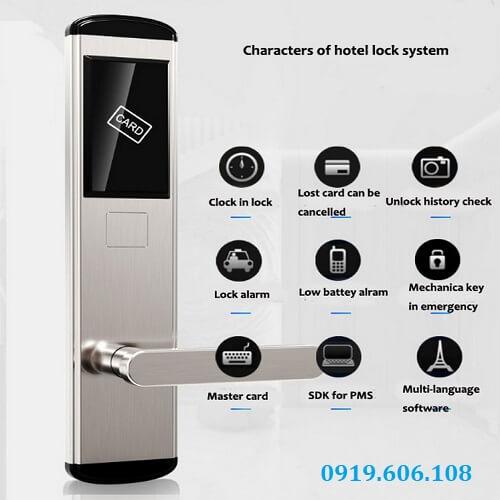 Khóa Cửa Thẻ Từ Khách Sạn OneLock HL008