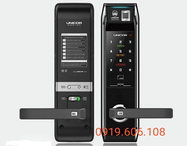 Khóa cửa điện tử chung cư Unicor UN-9000BWSK-F