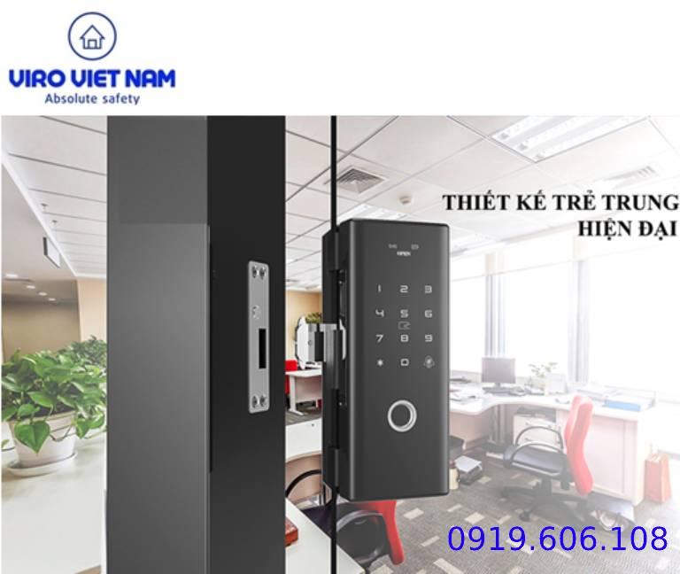 khóa cửa điện tử cửa kính
