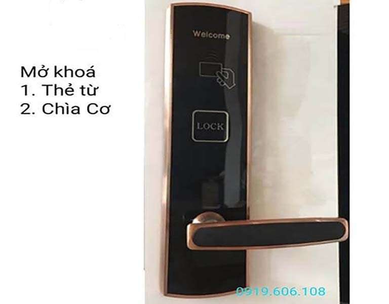 khóa cửa thẻ từ Viro Smart Lock VR-P14, dòng khóa chuyên dùng cho khách sạn, có nhiều tính năng tốt, quản lý dễ dàng, đảm bảo an ninh