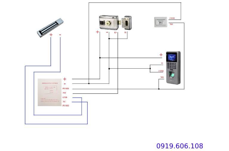 Khóa Cửa Thẻ Từ Viro Smart Rim Lock VR-1200 3in1