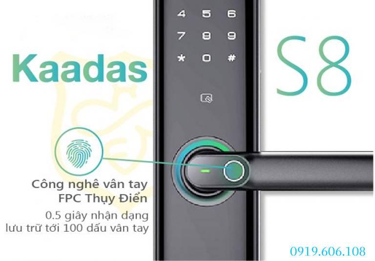 Công nghệ quét vân tay của Khóa cửa thông minh Kaadas S8