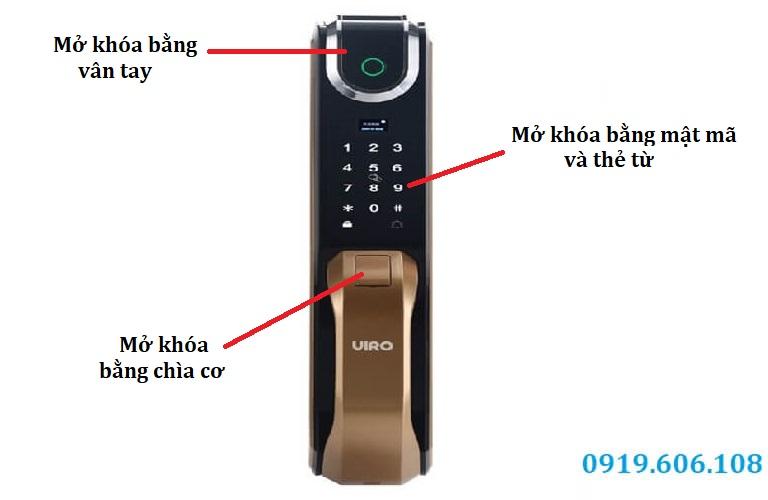 khóa vân tay cửa gỗ Viro Smart Lock VR-G51