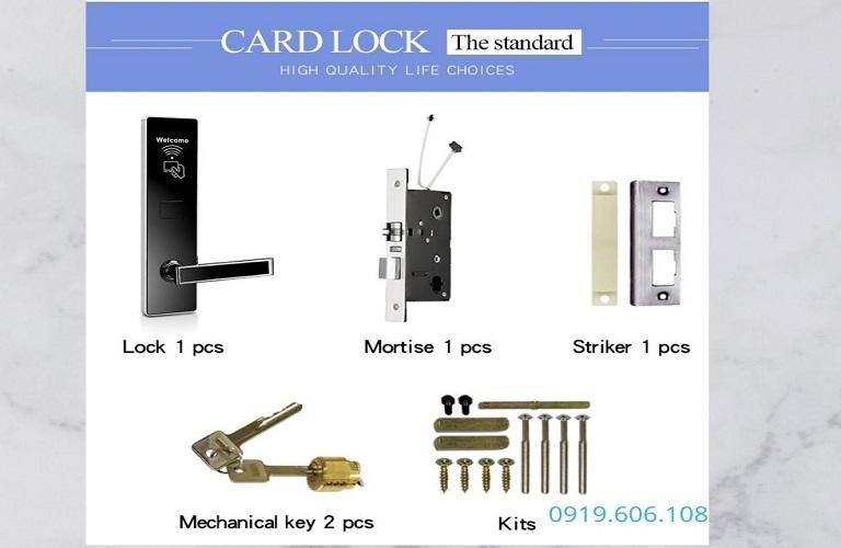 Khóa Cửa Thẻ Từ Khách Sạn OneLock HL007 Hiện Đại Giá Rẻ