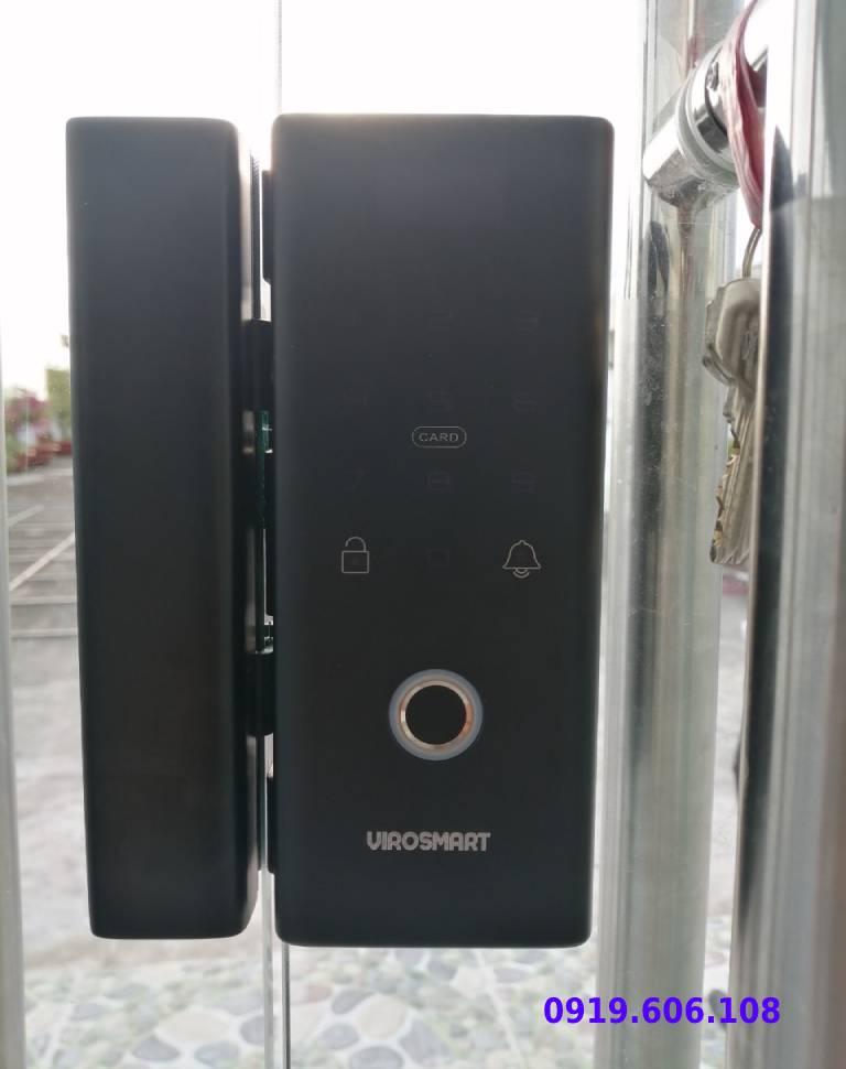 lắp đặt khóa vân tay viro smart lock 4in1 VR-E12