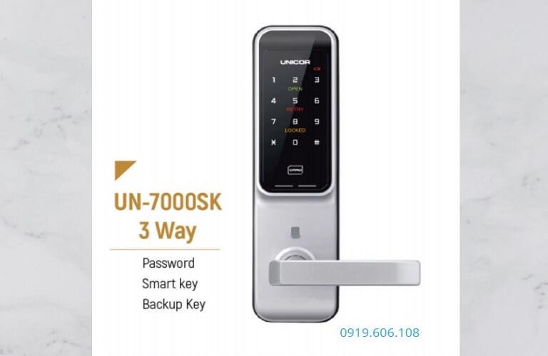 Khóa Cửa Thẻ Từ Unicor UN-7000SK Chính Hãng Chất Lượng Cao