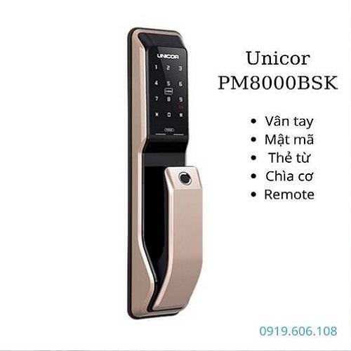 Khóa Cửa Vân Tay Unicor PM8000BSK