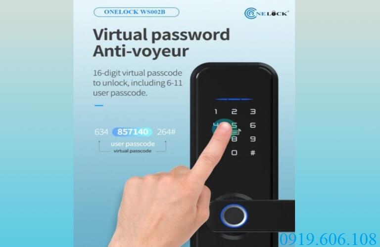 Khóa OneLock WS002B có công nghệ mã hóa mật mã, tránh lộ mật khẩu thật trước người lạ