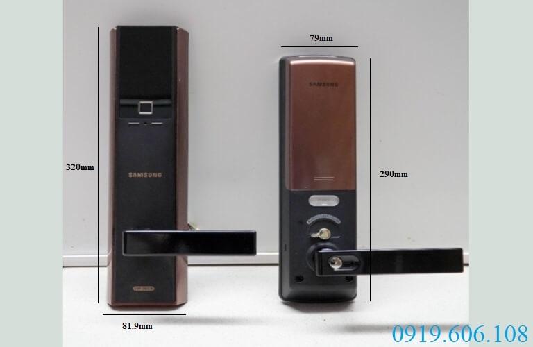 Khóa vân tay Samsung SHP-DH538BC/EN thiết kế hiện đại, chắc chắn, bảo đảm an ninh cho nơi ở, tài sản, con người