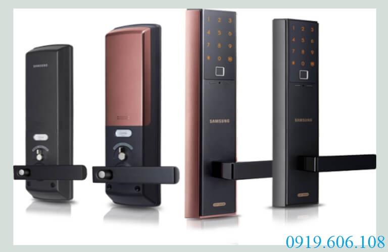 Khóa vân tay Samsung SHP-DH538MC/EN có hai màu sắc tinh tế, giúp tăng sự sang trọng, hiện đại cho không gian được lắp
