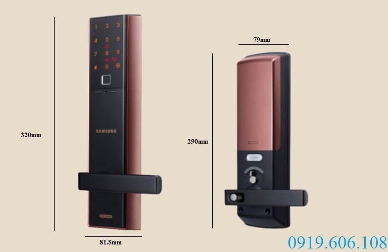 Khóa cửa vân tay Samsung SHP-DH538MC/EN chất lượng tốt, đảm bảo an toàn cực cao