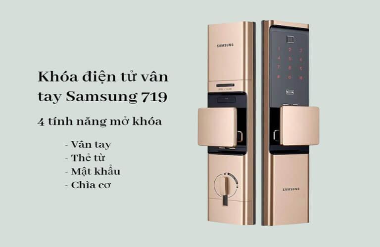 Mẫu khóa cửa điện tử Samsung SHP-DR719