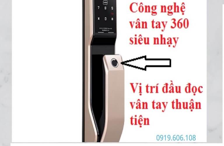 Khóa Cửa Vân Tay Unicor PM8000BSK Hàng Cao Cấp Hiện Đại