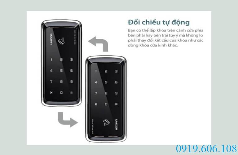 Khóa thẻ từ cửa kính Unicor UN-325S-GL có thiết kế linh động, dễ lắp đặt, tạo sự tiện lợi cho người dùng