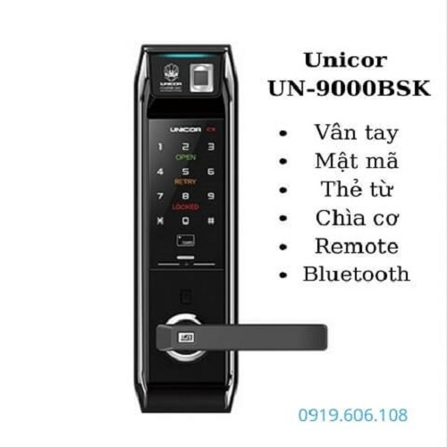 Khóa Cửa Thông Minh Unicor UN-9000BSK