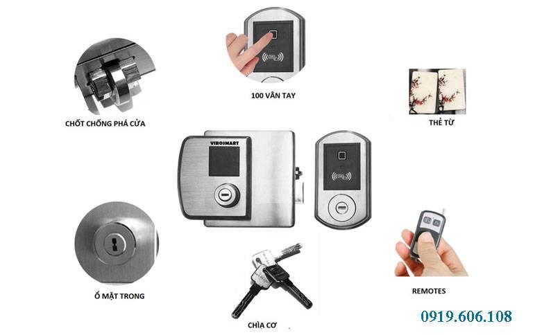 Khóa Cửa Vân Tay ViroSmart Lock VR 1300 Chính Hãng, An Toàn