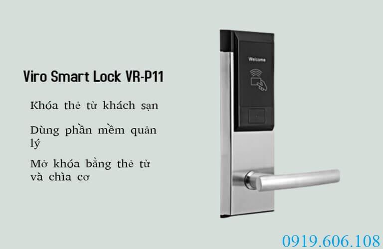 Sử dụng khóa thẻ từ Viro Smart Lock VR-P11 giúp quản lý khách sạn hiệu quả