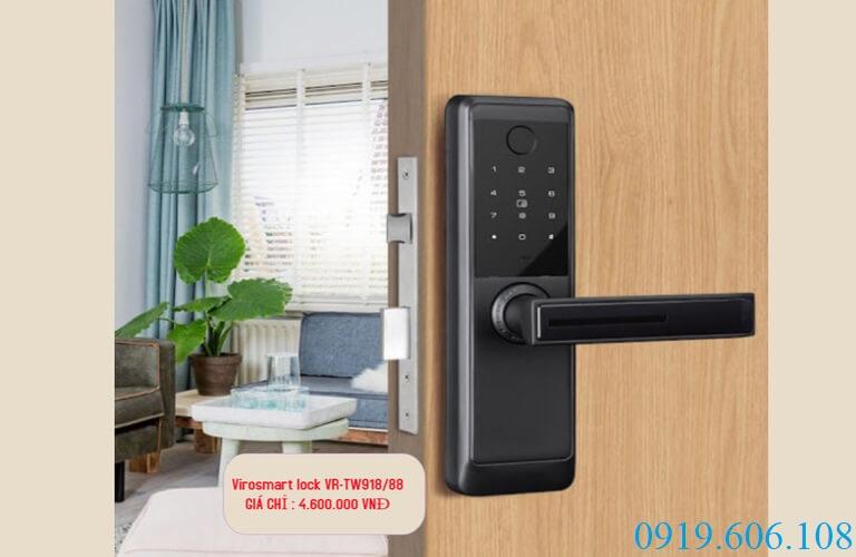 Khóa vân tay giá bình dân Viro Smart Lock 4in1 VR-TW918/88 nhưng chất lượng an toàn cực tốt