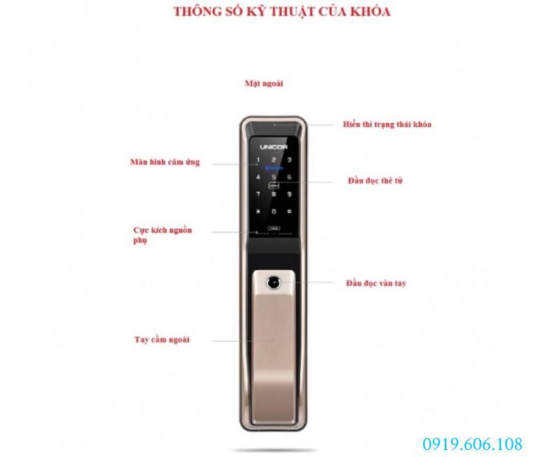 Lưu ý lắp đặt Khóa Cửa Thông Minh Unicor PM8000WSK