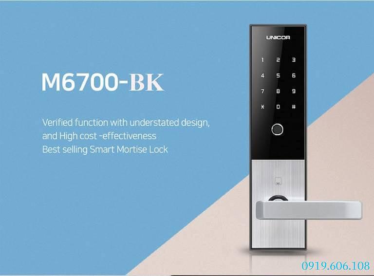 Khóa cửa vân tay Unicor M6700BK